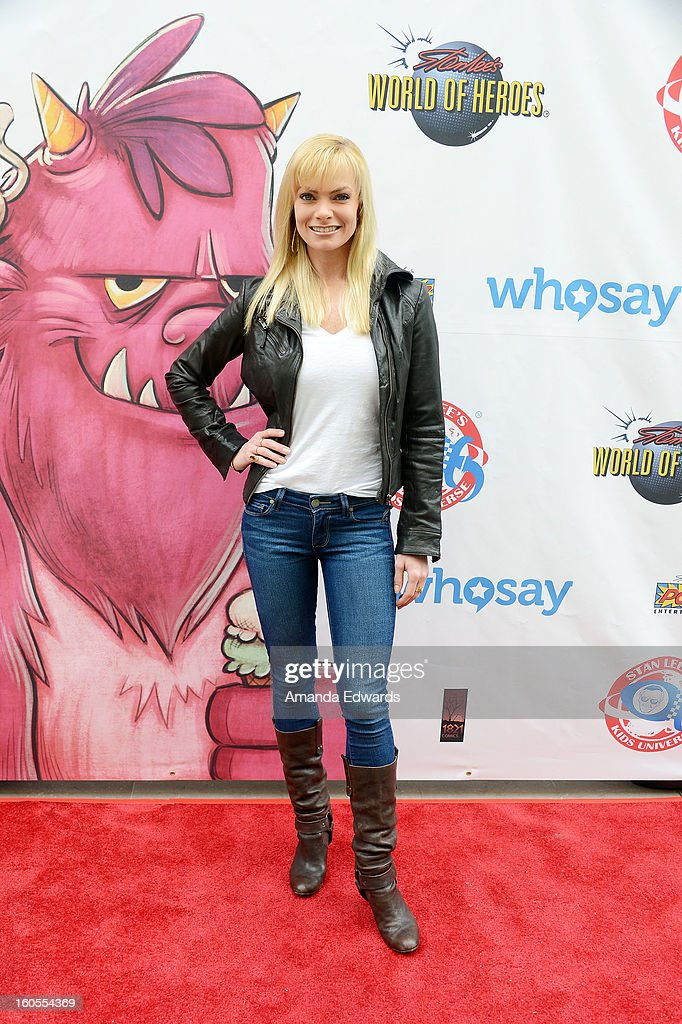 Actress Jaime Pressly arrives at Stan Lee's 'Kids Universe Day' new multi-platform children's books label unveiling at Giggles 'N' Hugs on February 2, 2013 in Century City, California.