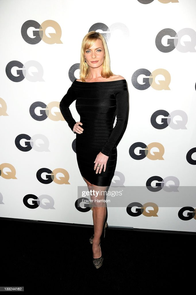 Actress <a gi-track='captionPersonalityLinkClicked' href=/galleries/search?phrase=Jaime+Pressly&family=editorial&specificpeople=211226 ng-click='$event.stopPropagation()'>Jaime Pressly</a> arrives at the 16th Annual GQ 'Men Of The Year' Party at Chateau Marmont on November 17, 2011 in Los Angeles, California.