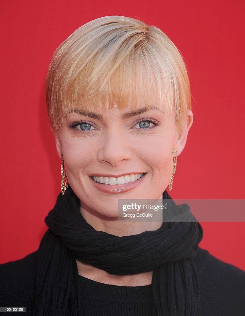Actress Jaime Pressly arrives at the Los Angeles premiere of 'The Lego Movie' at Regency Village Theatre on February 1, 2014 in Westwood, California.