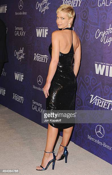 Actress Jaime Pressly arrives at Variety And Women In Film Annual PreEmmy Celebration at Gracias Madre on August 23 2014 in West Hollywood California