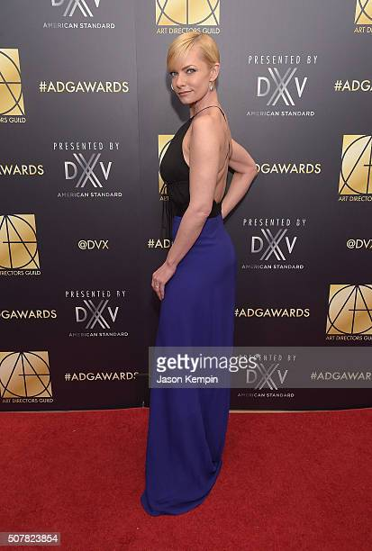 Actress Jaime Pressly attends the Art Directors Guild 20th Annual Excellence In Production Awards at The Beverly Hilton Hotel on January 31 2016 in...
