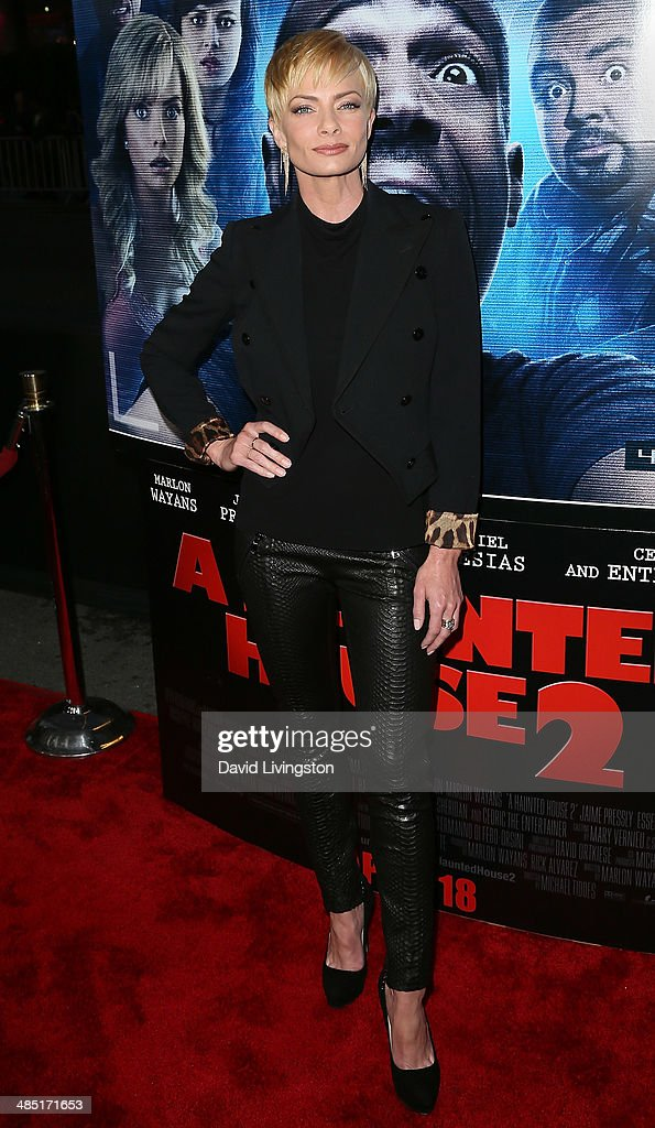 Actress <a gi-track='captionPersonalityLinkClicked' href=/galleries/search?phrase=Jaime+Pressly&family=editorial&specificpeople=211226 ng-click='$event.stopPropagation()'>Jaime Pressly</a> attends the premiere of Open Road Films' 'A Haunted House 2' at Regal Cinemas L.A. Live on April 16, 2014 in Los Angeles, California.