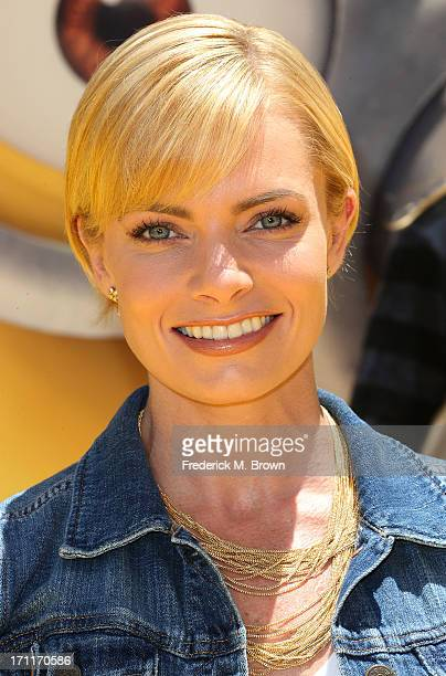 Actress Jaime Pressly attends the premiere of Universal Pictures' 'Despicable Me 2' at the Gibson Amphitheatre on June 22 2013 in Universal City...