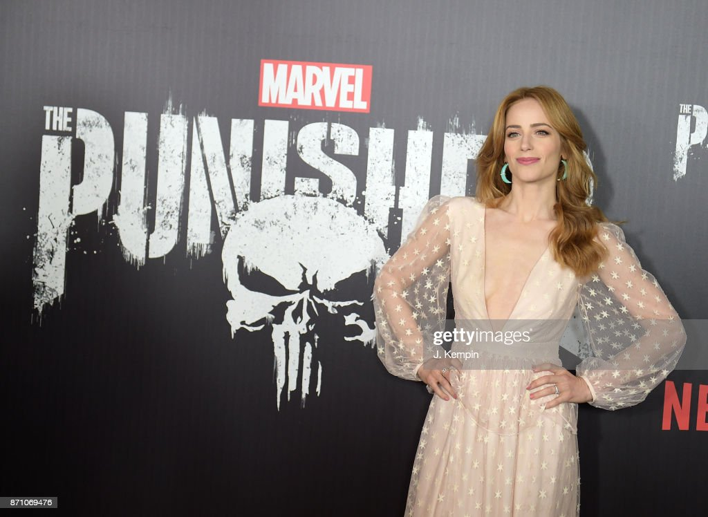 Actress Jaime Ray Newman attends the 'Marvel's The Punisher' New York Premiere on November 6, 2017 in New York City.