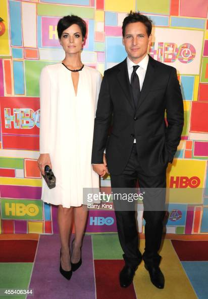 Actress Jaimie Alexander and actor Peter Facinelli attend HBO's 2014 Emmy after party at The Plaza at the Pacific Design Center on August 25 2014 in...