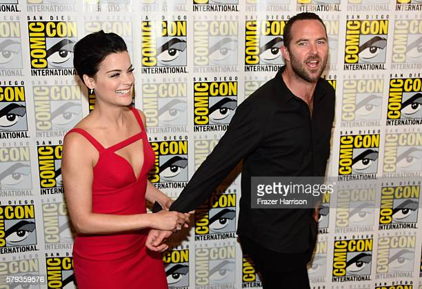 Actress Jaimie Alexander and actor Sullivan Stapleton attend the 'Blindspot' Press Line during ComicCon International 2016 at Hilton Bayfront on July...