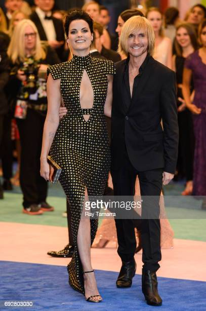 Actress Jaimie Alexander and fashion designer Marc Bouwer enter the CFDA Fashion Awards at Hammerstein Ballroom on June 5 2017 in New York City