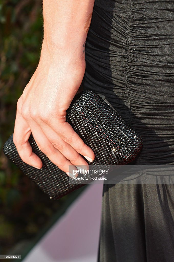 Actress Jaimie Alexander (clutch detail) arrives at the 19th Annual Screen Actors Guild Awards held at The Shrine Auditorium on January 27, 2013 in Los Angeles, California.