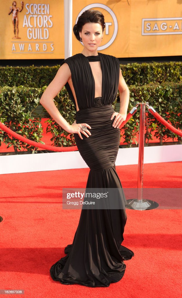 Actress Jaimie Alexander arrives at the 19th Annual Screen Actors Guild Awards at The Shrine Auditorium on January 27, 2013 in Los Angeles, California.