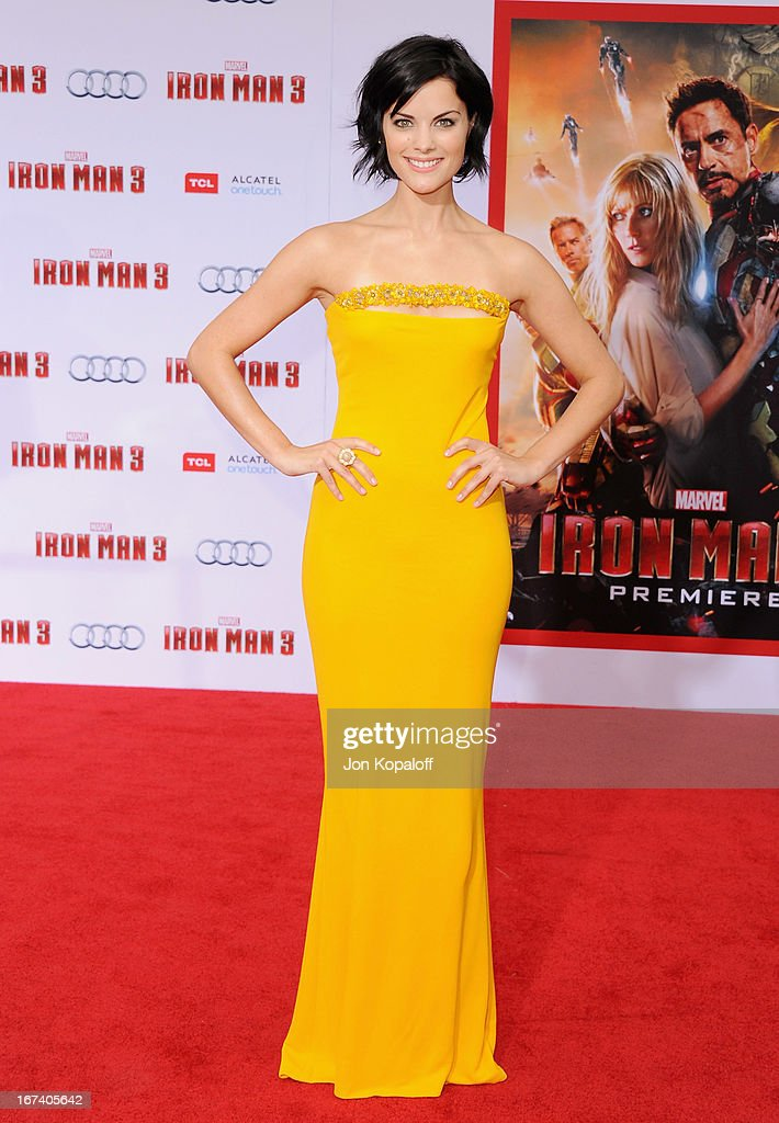 Actress Jaimie Alexander arrives at the Los Angeles Premiere 'Iron Man 3' at the El Capitan Theatre on April 24 2013 in Hollywood California