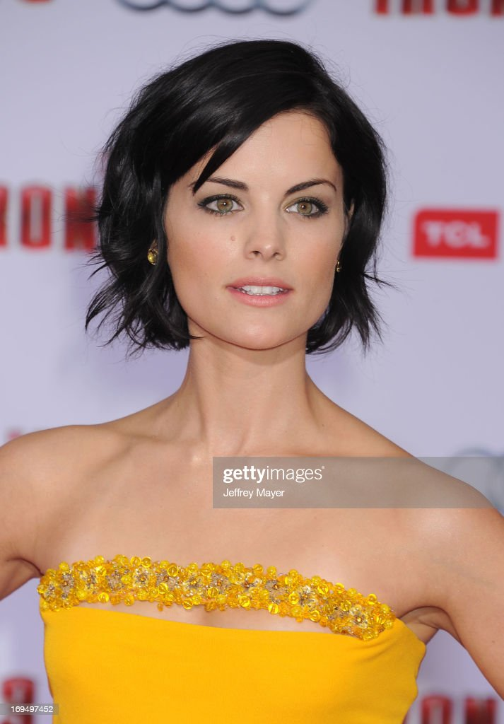 Actress Jaimie Alexander arrives at the Los Angeles Premiere of 'Iron Man 3' at the El Capitan Theatre on April 24, 2013 in Hollywood, California.