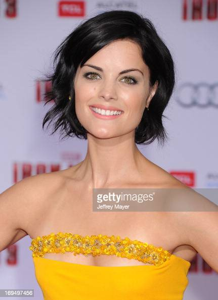 Actress Jaimie Alexander arrives at the Los Angeles Premiere of 'Iron Man 3' at the El Capitan Theatre on April 24 2013 in Hollywood California