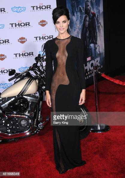 Actress Jaimie Alexander arrives at the Los Angeles Premiere 'Thor The Dark World' on November 4 2013 at the El Capitan Theatre in Hollywood...
