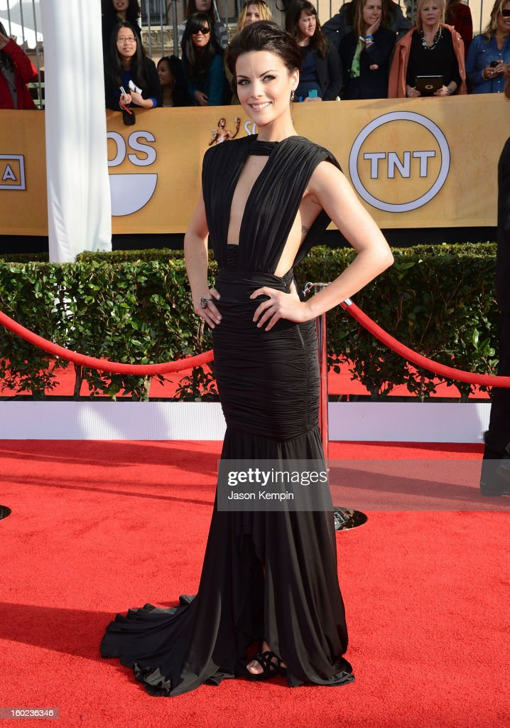 Actress Jaimie Alexander attends the 19th Annual Screen Actors Guild Awards at The Shrine Auditorium on January 27, 2013 in Los Angeles, California.