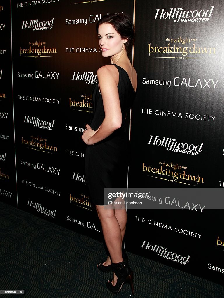 Actress Jaimie Alexander attends the Cinema Society with The Hollywood Reporter and Samsung Galaxy screening of 'The Twilight Saga: Breaking Dawn Part 2' at the Landmark Sunshine Cinema on November 15, 2012 in New York City.