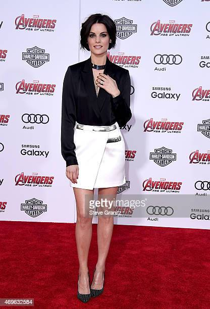 Actress Jaimie Alexander attends the premiere of Marvel's 'Avengers Age Of Ultron' at Dolby Theatre on April 13 2015 in Hollywood California