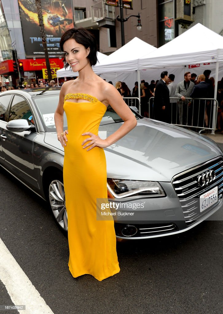 Actress Jaimie Alexander attends the U.S. Premiere of Marvel's Iron Man 3 hosted by Audi at the El Capitan Theatre on April 24, 2013 in Hollywood, California.