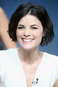 Actress Jaimie Alexander speaks onstage during NBC's 'Blindspot' panel discussion at the NBCUniversal portion of the 2015 Summer TCA Tour at The...