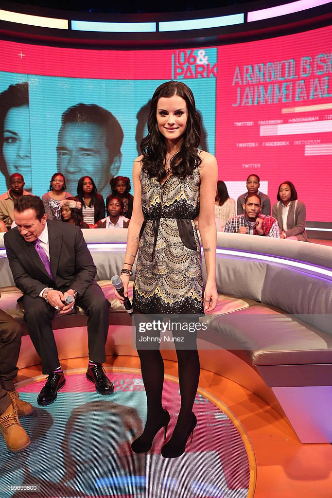 Actress Jaimie Alexander visits BET's '106 & Park' at BET Studios on January 17, 2013 in New York City.