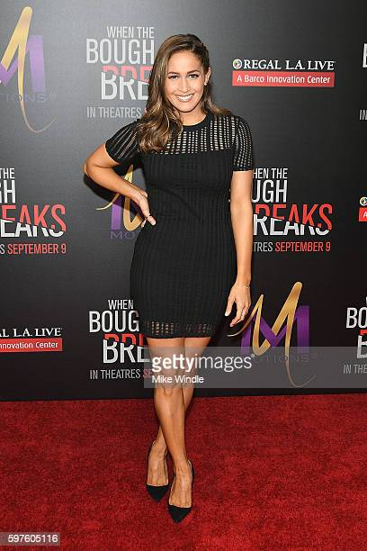 Actress Jaina Lee Ortiz attends the premiere of Sony Pictures Releasing's 'When The Bough Breaks' at Regal LA Live Stadium 14 on August 28 2016 in...