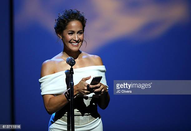 Actress Jaina Lee Ortiz speaks onstage during the 2016 Latinos de Hoy Awards at Dolby Theatre on October 9 2016 in Hollywood California