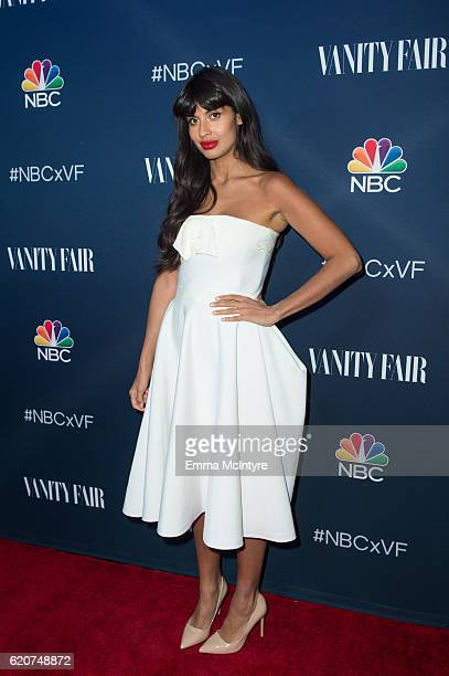 Actress Jameela Jamil arrives at 'NBC and Vanity Fair toast the 20162017 TV Season' at NeueHouse Hollywood on November 2 2016 in Los Angeles...