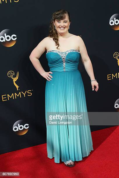 Actress Jamie Brewer arrives at the 68th Annual Primetime Emmy Awards at the Microsoft Theater on September 18 2016 in Los Angeles California