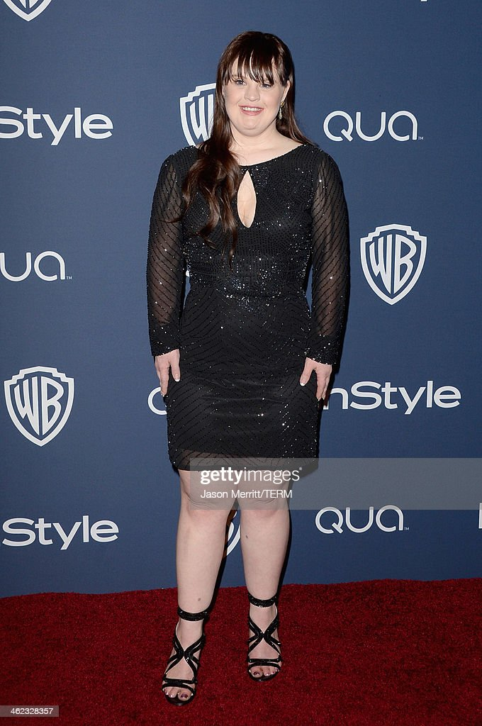 Actress <a gi-track='captionPersonalityLinkClicked' href=/galleries/search?phrase=Jamie+Brewer+-+Actress&family=editorial&specificpeople=8414249 ng-click='$event.stopPropagation()'>Jamie Brewer</a> attends the 2014 InStyle and Warner Bros. 71st Annual Golden Globe Awards Post-Party on January 12, 2014 in Beverly Hills, California.