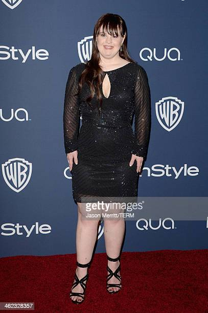 Actress Jamie Brewer attends the 2014 InStyle and Warner Bros 71st Annual Golden Globe Awards PostParty on January 12 2014 in Beverly Hills California