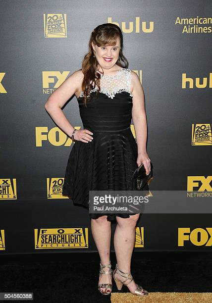Actress Jamie Brewer attends the Fox and FX's 2016 Golden Globe Awards Party on January 10 2016 in Beverly Hills California