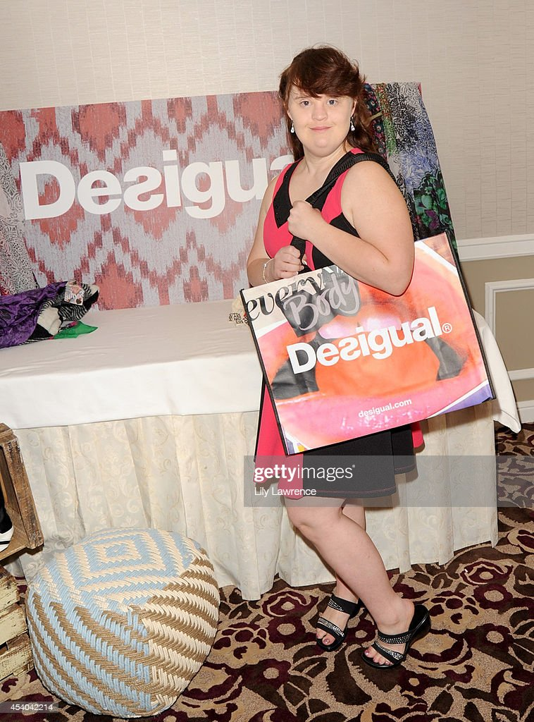Actress Jamie Brewer attends the HBO Luxury Lounge featuring PANDORA at Four Seasons Hotel Los Angeles at Beverly Hills on August 23, 2014 in Beverly Hills, California.