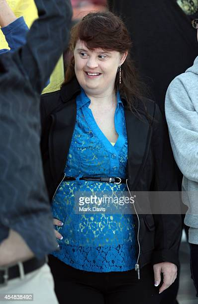 Actress Jamie Brewer attends the Hearst Ranch barbeque celebration and concert during Best Buddies Hearst Castle Challenge at Hearst Ranch on...