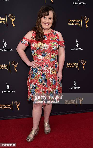 Actress Jamie Brewer attends the Television Academy And SAGAFTRA's 4th Annual Dynamic and Diverse Celebration at The Saban Media Center on August 25...