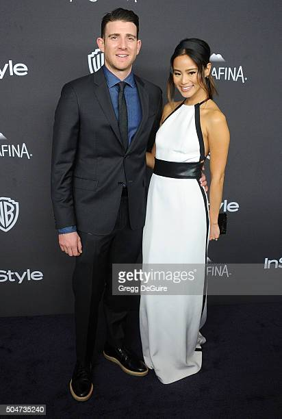 Actress Jamie Chung and Bryan Greenberg arrive at the 2016 InStyle And Warner Bros 73rd Annual Golden Globe Awards PostParty at The Beverly Hilton...