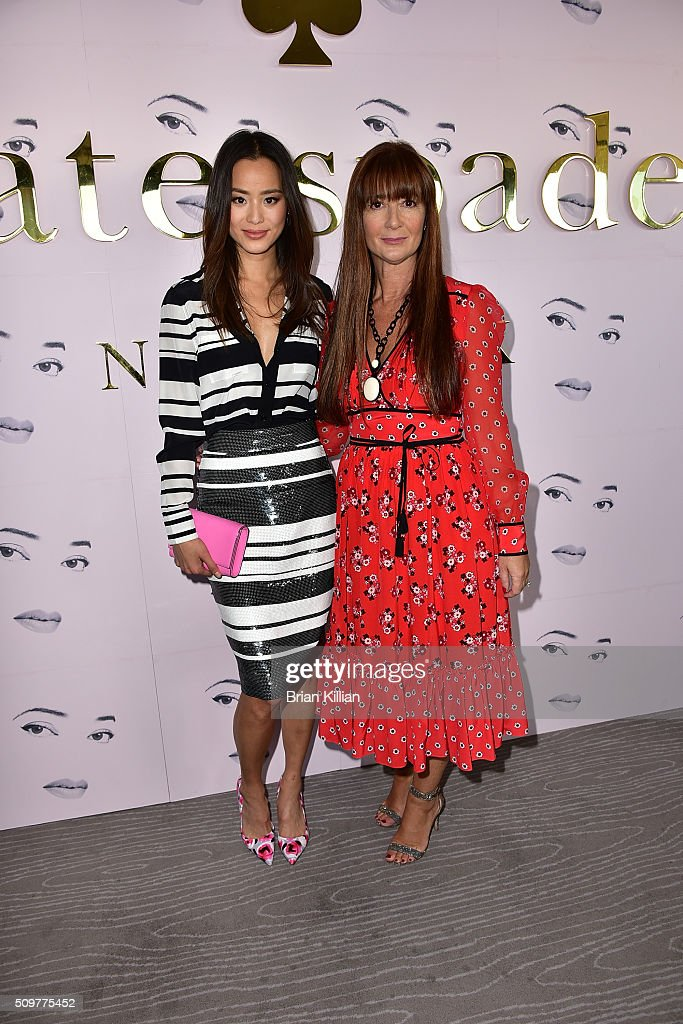 Actress <a gi-track='captionPersonalityLinkClicked' href=/galleries/search?phrase=Jamie+Chung&family=editorial&specificpeople=4145549 ng-click='$event.stopPropagation()'>Jamie Chung</a> and designer <a gi-track='captionPersonalityLinkClicked' href=/galleries/search?phrase=Deborah+Lloyd&family=editorial&specificpeople=4467300 ng-click='$event.stopPropagation()'>Deborah Lloyd</a> attend the Kate Spade New York - Presentation - Fall 2016 show during New York Fashion Week at The Rainbow Room on February 12, 2016 in New York City.