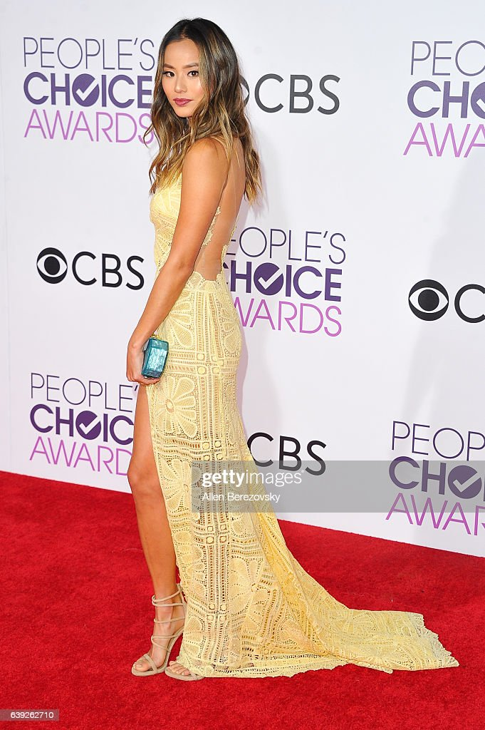 Actress Jamie Chung arrives at People's Choice Awards 2017 at Microsoft Theater on January 18, 2017 in Los Angeles, California.