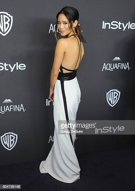 Actress Jamie Chung arrives at the 2016 InStyle And Warner Bros 73rd Annual Golden Globe Awards PostParty at The Beverly Hilton Hotel on January 10...