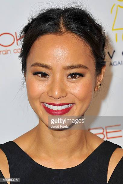 Actress Jamie Chung arrives at 'The Beauty Book For Brain Cancer' edition 2 launch party at Le Jardin on December 3 2015 in Hollywood California