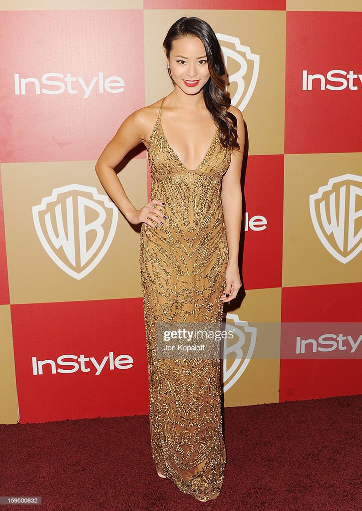 Actress Jamie Chung arrives at the InStyle And Warner Bros. Golden Globe Party at The Beverly Hilton Hotel on January 13, 2013 in Beverly Hills, California.