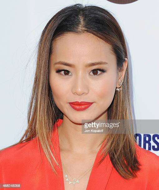 Actress Jamie Chung arrives at the Los Angeles Premiere of Hulu's 'Resident Advisors' at Sherry Lansing Theatre at Paramount Studios on March 31 2015...