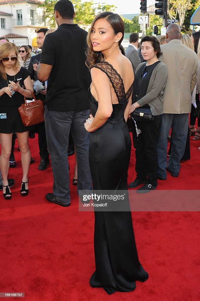 Actress <a gi-track='captionPersonalityLinkClicked' href=/galleries/search?phrase=Jamie+Chung&family=editorial&specificpeople=4145549 ng-click='$event.stopPropagation()'>Jamie Chung</a> arrives at the Los Angeles Premiere 'The Hangover: Part III' at Westwood Village Theatre on May 20, 2013 in Westwood, California.