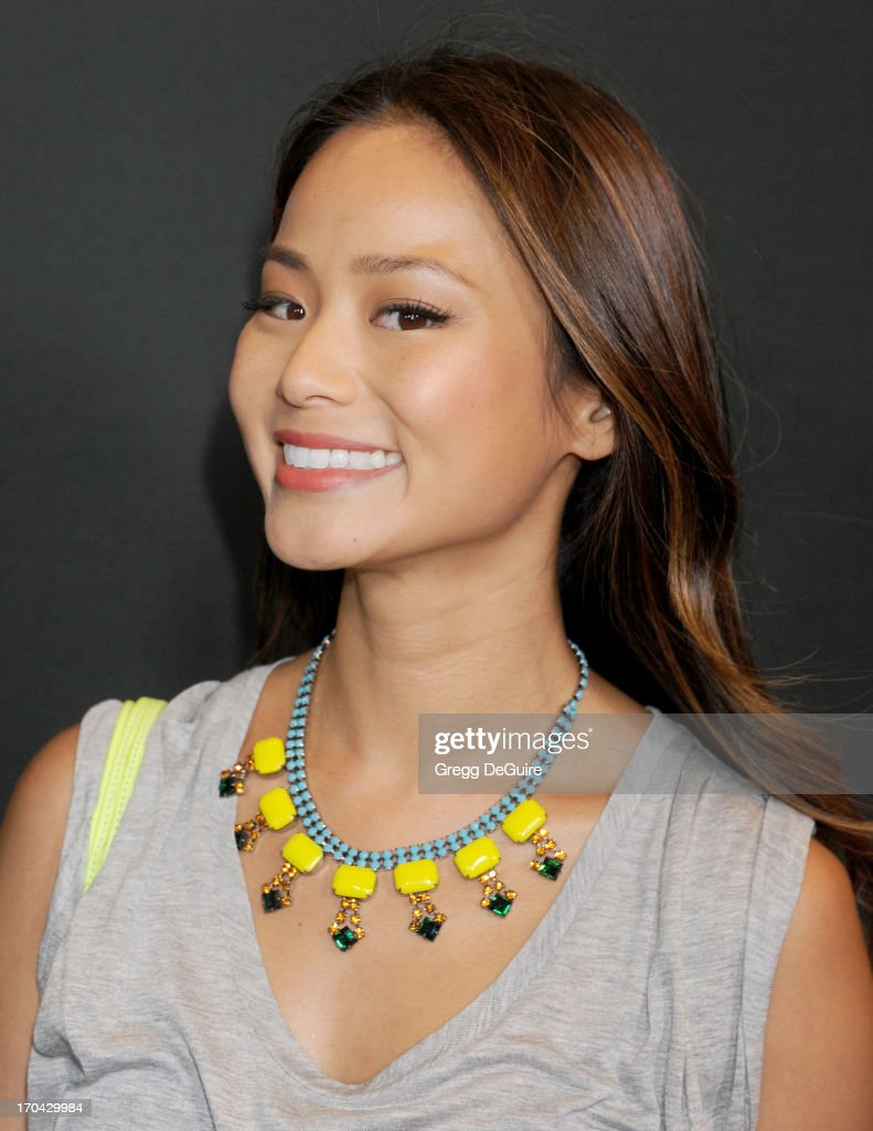 Actress <a gi-track='captionPersonalityLinkClicked' href=/galleries/search?phrase=Jamie+Chung&family=editorial&specificpeople=4145549 ng-click='$event.stopPropagation()'>Jamie Chung</a> arrives at the Myspace event at El Rey Theatre on June 12, 2013 in Los Angeles, California.