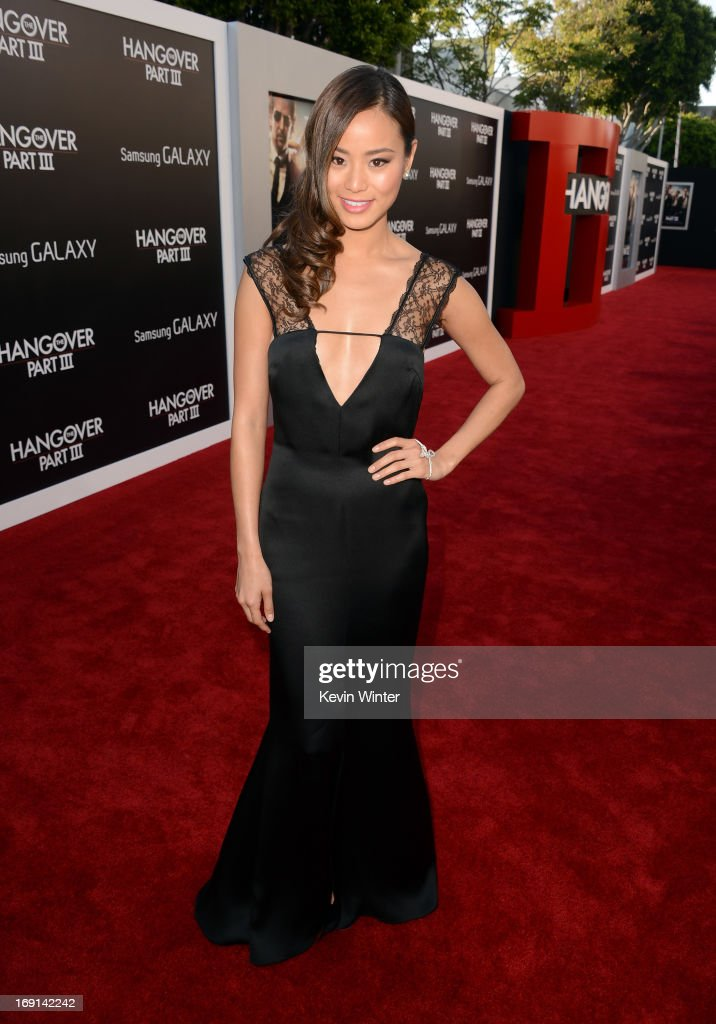 Actress <a gi-track='captionPersonalityLinkClicked' href=/galleries/search?phrase=Jamie+Chung&family=editorial&specificpeople=4145549 ng-click='$event.stopPropagation()'>Jamie Chung</a> arrives at the premiere of Warner Bros. Pictures' 'Hangover Part 3' on May 20, 2013 in Westwood, California.