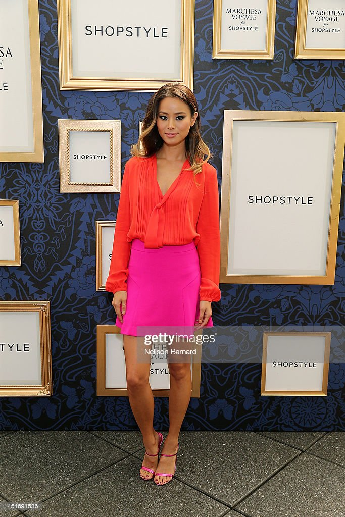 Actress Jamie Chung attends an exclusive preview of the Marchesa Voyage for ShopStyle collection on September 5 2014 in New York City