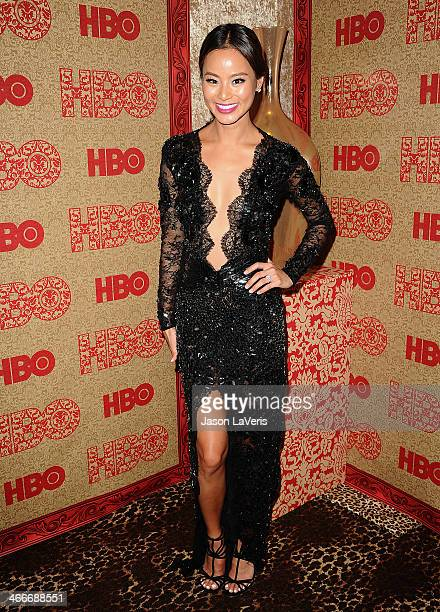 Actress Jamie Chung attends HBO's Golden Globe Awards after party at Circa 55 Restaurant on January 12 2014 in Los Angeles California