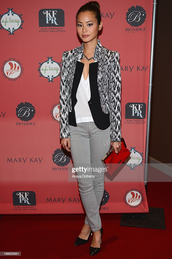 Actress Jamie Chung attends Kari Feinstein's Pre-Golden Globes Style Lounge at the W Hollywood on January 11, 2013 in Hollywood, California.