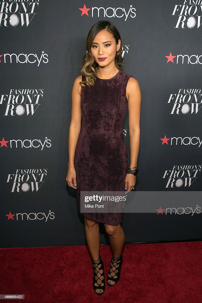 Actress Jamie Chung attends Macy's Presents Fashion's Front Row during Spring 2016 New York Fashion Week at The Theater at Madison Square Garden on...
