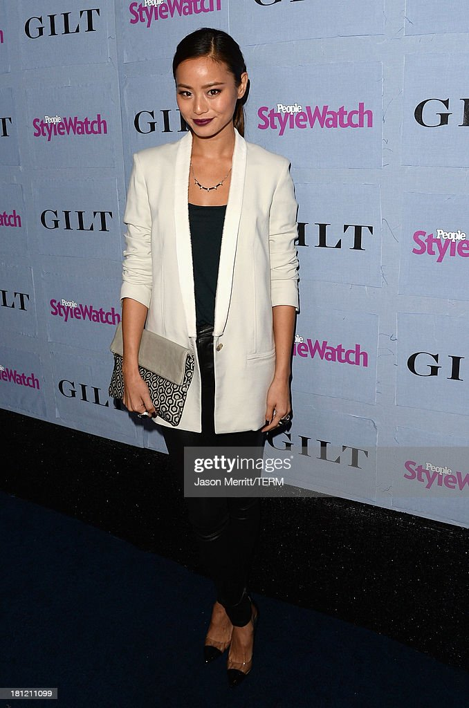 Actress <a gi-track='captionPersonalityLinkClicked' href=/galleries/search?phrase=Jamie+Chung&family=editorial&specificpeople=4145549 ng-click='$event.stopPropagation()'>Jamie Chung</a> attends People StyleWatch Denim Awards presented by GILT at Palihouse on September 19, 2013 in West Hollywood, California.