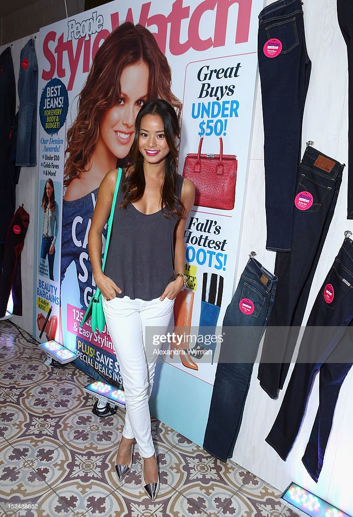 Actress <a gi-track='captionPersonalityLinkClicked' href=/galleries/search?phrase=Jamie+Chung&family=editorial&specificpeople=4145549 ng-click='$event.stopPropagation()'>Jamie Chung</a> attends People StyleWatch Hollywood Denim Party at Palihouse on September 20, 2012 in Santa Monica, California.