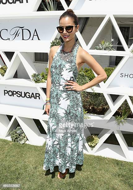 Actress Jamie Chung attends POPSUGAR And The Council Of Fashion Designers Of America Brunch With Designer Mara Hoffman At The Cabana Club at the...